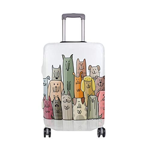 My Daily Funny Dogs Cartoon - Funda para Maleta de Viaje de Spandex (45,7 a 81,3 cm)
