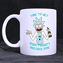WYYCLD Funny Gift - Time to Get Riggity Riggity Wrecked Son Coffee Mug, Tea Cup, Ceramic Material Mugs, White 11oz by