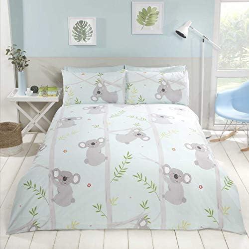 Koala Parure de lit pour b/éb/é 2 pi/èces 100 /% coton 100 x 135 cm 40 x 60 cm Certifi/é /Öko-Tex Standard 100 Bleu