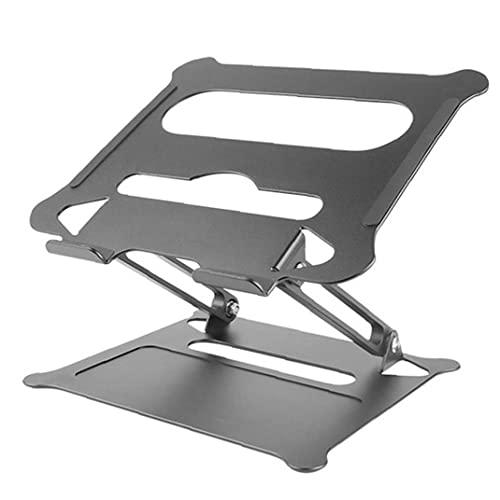 Tuimiyisou Soporte Ajustable portátil Plegable portátil Bandeja Vertical de la Tableta Portable del sostenedor del Soporte en Forma de aleación de Aluminio para Ordenador portátil Negro