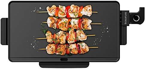 Taurus Steakmax 2200 - Plancha électrique 2200W, Plaque 49x27cm, Revêtement antiadhésif, Nettoyage facile, Température réglable, Bac de récupération de graisse, Sans PFOA