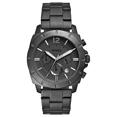 FOSSIL Privateer Sport Chronograph Uhr mit schwarzem Edelstahlarmband für Herren BQ2168IE