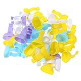 Artibetter 100pcs tazas profiláceas desechables anillos de mezcla dentales tazas Dappen plato para herramienta de odontología (color aleatorio)