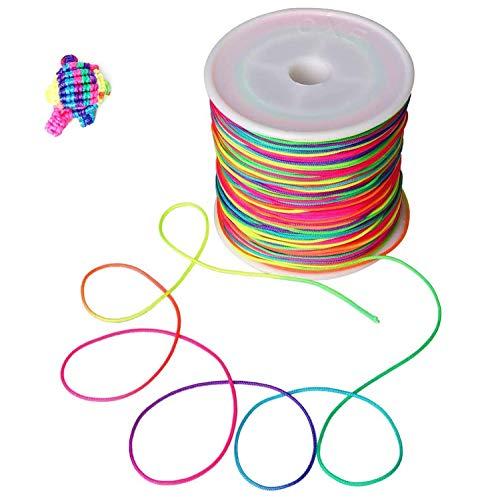 Arcobaleno colori artigianato filo intrecciato perline braccialetto per gioielli collana fai da te