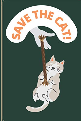 Save The Cat: Blank Lined Notebook, Composition Book, Diary gift for Women, Men, Teens, Children and students (Animal Lover Notebook)