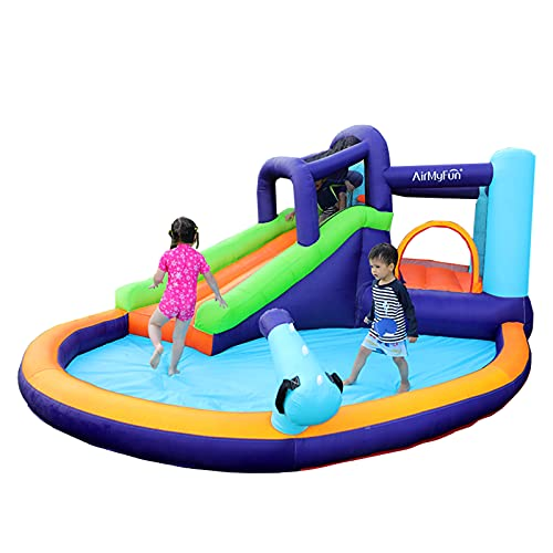 AirMyFun Inflatable Bounce House, Water Spray for Summer Time, Inflatable Bouncer with Air Blower,...