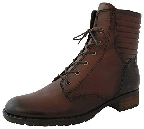 Gabor Fashion 31.622.88 Stiefel/Schnürstiefelette (Biker Boots/Schnürboots/Winterstiefel) mit Reißverschluss Leder braun (Castagno), EU 35.5