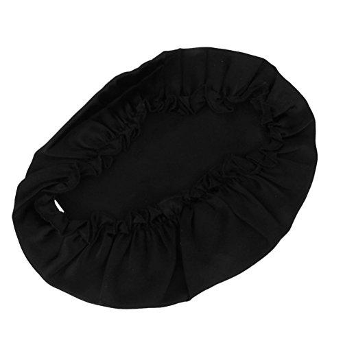 Tinksky Reine Seide Kappe weich schlafen Cap Mütze Nacht Hut Haarpflege (schwarz)