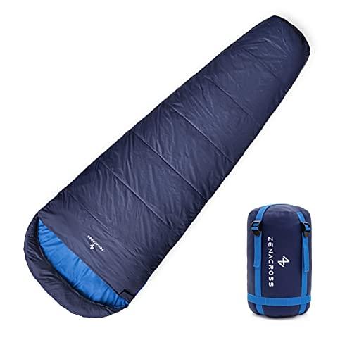 Sommerschlafsack kühle/warme Temperaturen Erwachsene - Schwarz/grau - Leicht, wasserdicht- 15 zu 20 Grad - Indoor Outdoor - Wander Schlafsack, Camping, Reisen, Mountain, Trekking - Sleeping Bag