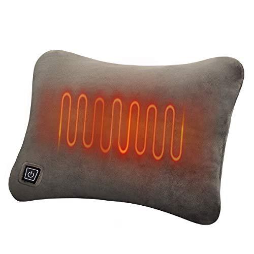 IFSONG 電熱クッション 電気カイロ あったか お湯入れ不要 電気湯たんぽ 繰り返し利用 エコ マッサージ枕 加熱ヒーター 過熱防止 低温やけど防止 防寒 冷え性 モバイルバッテリー給電