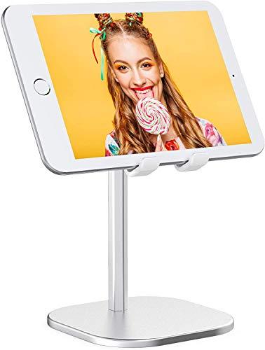 Cocoda Supporto Tablet, Porta Cellulare da Tavolo Aggiornato con Angolo Regolabile a 45°, Supporto Cellulare con Base Solida in Alluminio, per iPhone, Huawei, Xiaomi, iPad Mini e Altro (4-7.9'')
