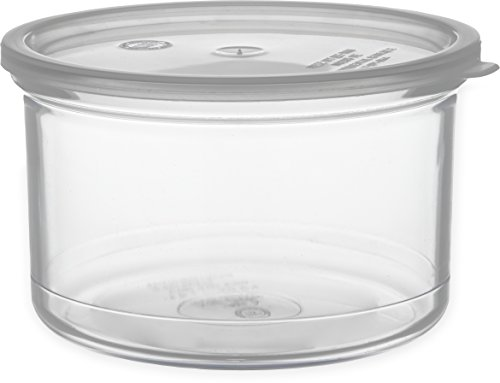 Best Bargain Carlisle 031607 Solid Color Commercial Round Storage Container with Lid, 1.5 Quart Capa...