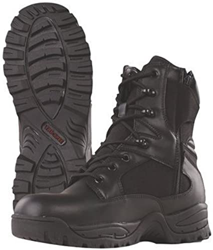 TRU-SPEC 4059010 9  Tactical Assault Side Zipper botas, Leather and Cordura Nylon, 11 Regular, negro