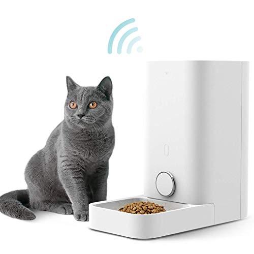 PETKIT Smart Futterspender für Katzen und Hunde/Automatische Futterautomat für Haustiere/Futterautomat Hochwertiger Spender mit Double Frisches Lock System/Größe: 5.9 Liter (Mini-Weiß)