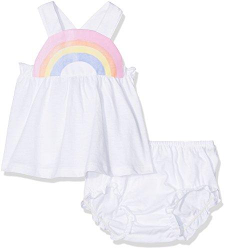 United Colors of Benetton United Colors of Benetton Baby-Mädchen Tank-top+Short Bekleidungsset, Weiß (White), 6-9 Monate (Herstellergröße: 68)