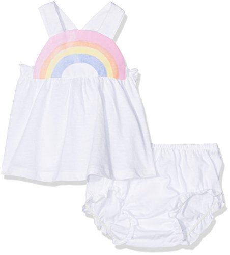 United Colors of Benetton United Colors of Benetton Baby-Mädchen Tank-top+Short Bekleidungsset, Weiß (White), 6-9 Monate (Herstellergröße: 68)