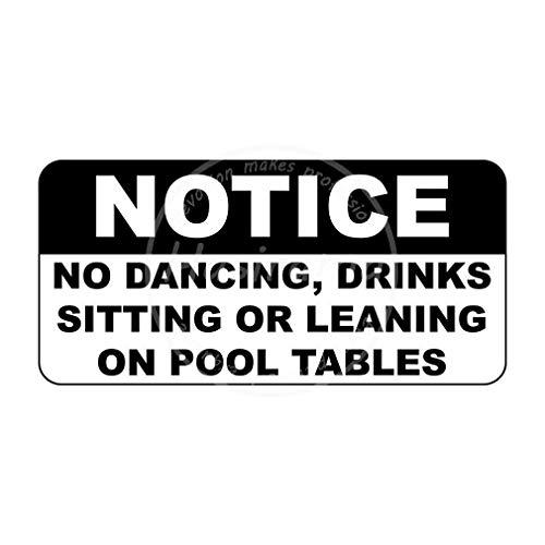 NoticeDrinks Sitting Or Leaning On Pool Tables Blechwand schilder Warnschild Dekoriert Bar Party Restaurant Küche Büro Thema Hochzeit Geburtstag Weihnachten Ostergeschenk