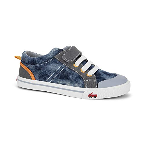 See Kai Run - Tanner Sneakers for Kids, Washed Denim, 6