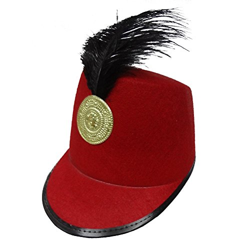 Dress Up America Kids' Big Red Marching Band Hat, One Size Fits Mone SizeT