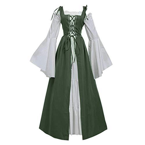 SERYU Damen Bandage Korsett Middeleeuwse Vintage Party Club Elegantes Kleid - Grün - 3X