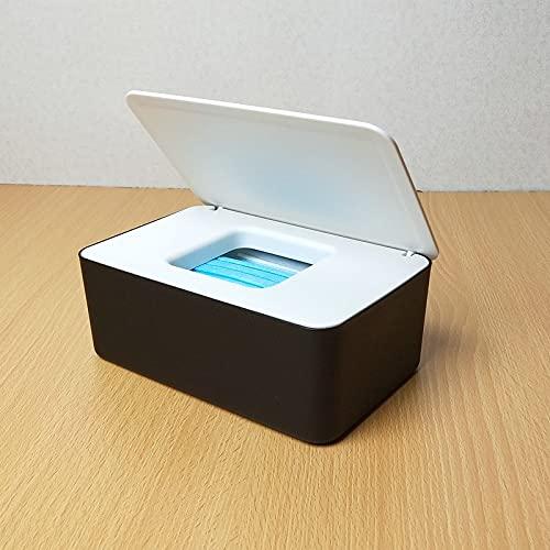 Caja de pañuelos húmedos con tapa, material de polipropileno, caja de almacenamiento sellada, apta para coche, sala de estar y baño (color: gris)