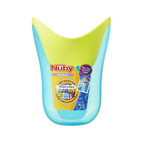 Nuby Tear-Free Rinse Pail, Colors May Vary