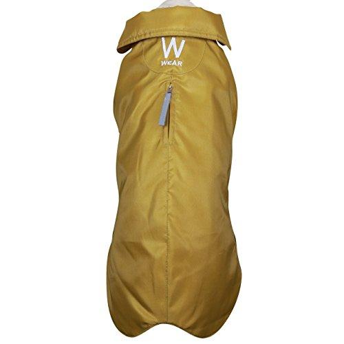 Wouapy, undurchlässig, Regenmantel für Hunde senf Größe 32