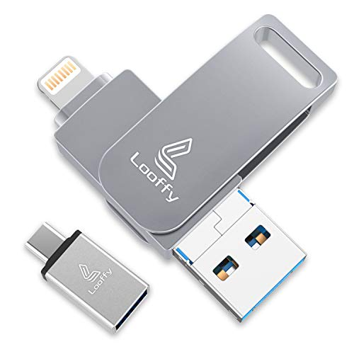 Looffy USB Stick 32GB für iPhone Speicher Stick iOS USB C Flash Drive 3.0 Speichererweiterung für iPhone iPad Android MacBook Handy iPod Tablet Computer 4 in 1