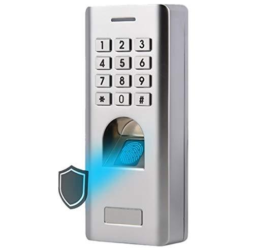 Hakeeta Sistema de Control de Acceso IP66 a Prueba de Agua, Lector Biométrico de Huellas Dactilares+Contraseña, Cerradura de Puerta de Entrada, Acceso de Huella Digital/Pin Múltiple