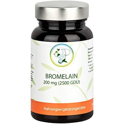 BROMELAIN - 2500 GDU - NEU - das besondere Enzym der Ananas für Ihre Gesundheit - hochkonzentriertes Bromelain aus Frucht und Stamm - plus Vitamin B6 und Vitamin C – 100{160a1b1366b81406c0356fac55fa06c1cf38a559539f53f3b11ff9e1397174dd} natürlich - 60 Kapseln
