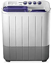 Samsung 7.2 kg Semi-Automatic Top Loading Washing Machine (WT725QPNDMP, White and Blue, Center Jet Pulsator)