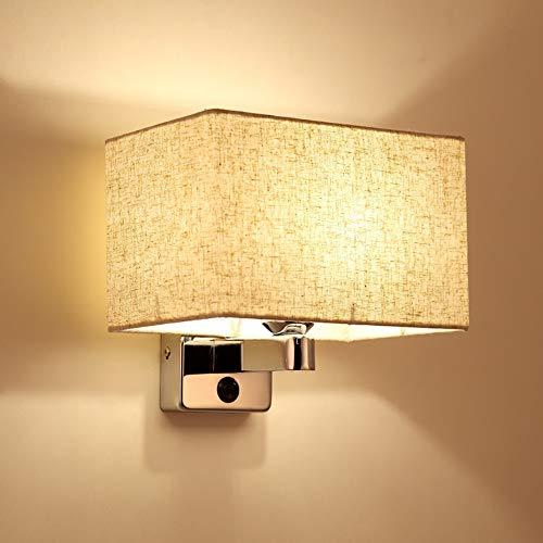 LCSD Lámpara de Pared Sala De Estar Posmoderna TV De Fondo Lámpara De Pared Dormitorio del Hotel Lámpara De La Cabecera De La Manera Simple Pasillo Balcón Lámpara