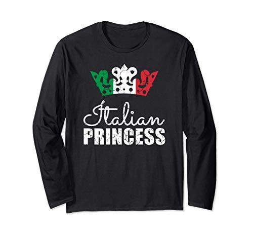 Italian Princess Italy Flag Proud Heritage Maglia a Manica