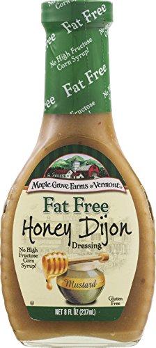 Maple Grove Farms Fat Free Salad Dressing, Honey Dijon, 8 Ounce (Pack of 12)