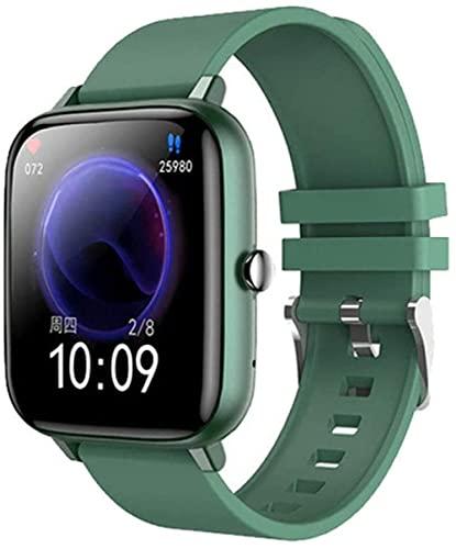 Reloj inteligente Reloj Inteligente Presión Arterial Ritmo Cardíaco Fitness Tracker Sport Smartwatch Reloj Mujeres Hombres Reloj Inteligente Para Android IOS-verde