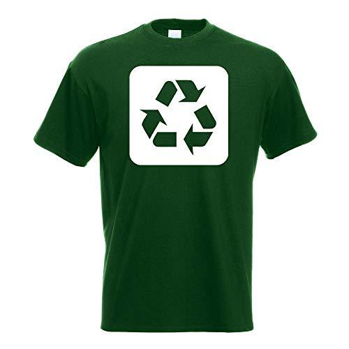 Kiwistar - Recycling Entsorgung Piktogramme T-Shirt in 15 Herren Funshirt Bedruckt Design Sprüche Spruch Motive Oberteil Baumwolle Print Größe S M L XL XXL