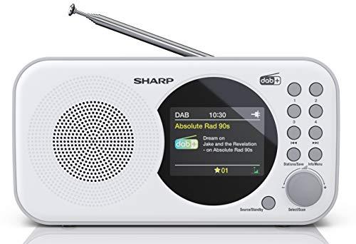 SHARP DR-P320 (WH) DAB + Radio digitale, DAB/DAB +/FM con testo RDS, funzione sveglia/snooze, bianco