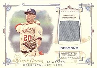 2014 Topps Allen & Ginter Full Size Relics #FRB-ID Ian Desmond Game Worn Jersey Baseball Card - Near Mint to Mint
