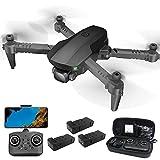 Mini Drone con cámara 4k Gimbal para Adultos Drone Modo sin Cabeza Control Remoto Largo Alcance 31 Minutos Vuelo Visión Nocturna Control Remoto GPS Cámara de Ultra Alta definición 4K Transmisión de i