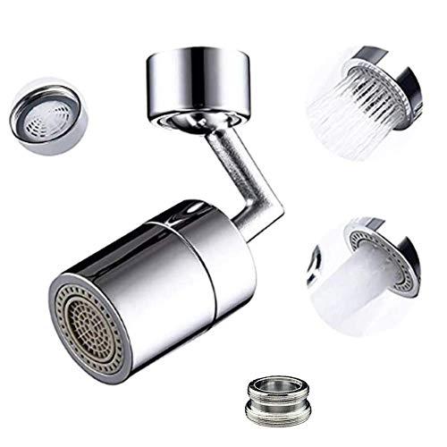 Zueyen Universal wasserhahn luftsprudler, Wasserhahn Aufsatz 2-Flow Doppelfunktion mit 4-lagigem Netzfilter, Küche/Bad Wasserhahn Filter