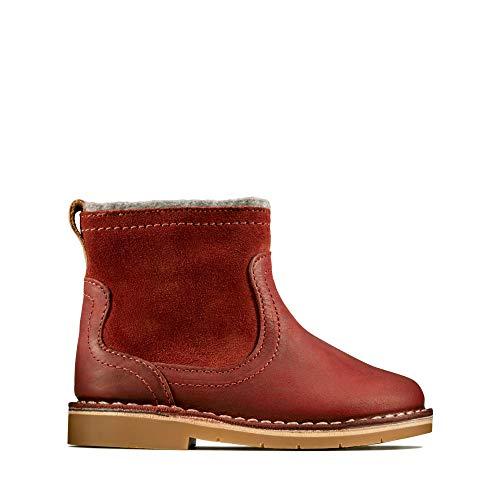 Clarks Mädchen Comet Frost T Chelsea Boots, Rot (Dark Red Dark Red), 25 EU