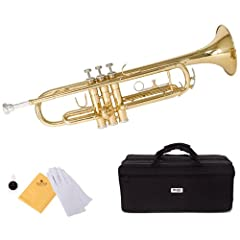 Bb (B flat) trumpet, Beautiful and durable brass body, Phosphorus copper used on lead (not the metal lead, but leading up to...) mouth pipe, smooth action valves, & comfortable buttons Medium-large .460 inch bore with 5 inch bell, 1st valve slide thu...