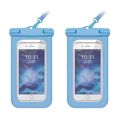 2 Pack Universal Waterproof Phone Pouch, IPX8 Waterproof Cellphone Dry Bag...