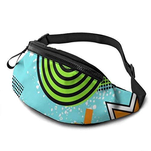 Hdadwy Waist Pack - Retro 80er Jahre Taillenpackung Langlebige Laufpackung für Herren Damen Taillentasche mit Kopfhörer Brusttasche mit großem Fach zum Wandern Wandern Sport Marathon Camp Shopping
