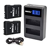 Bonacell EN-EL14 Battery 2 Pack and Dual LCD Charger Compatible with Nikon D5600 D5500 D5300 D5200 D5100 D3500 D3400 D3300 D3200 D3100 Df Coolpix P7800 P7700 P7200 P7100 P7000