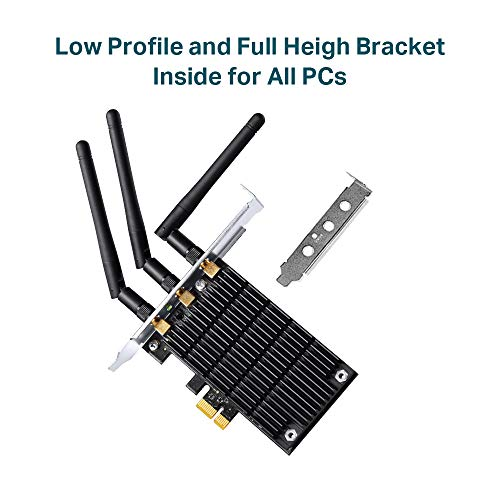 TP-Link Archer T9E AC1900 Wireless WiFi PCIe Network Adapter Card for PC, with Beamforming and Heatsink Technology