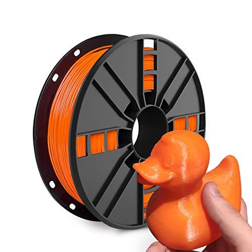 TPU Filament,Vacuum Sealed Flexible TPU Filament 1.75mm, Dimensional Accuracy +/- 0.05 mm, Orange 3D Filament TPU 1.75