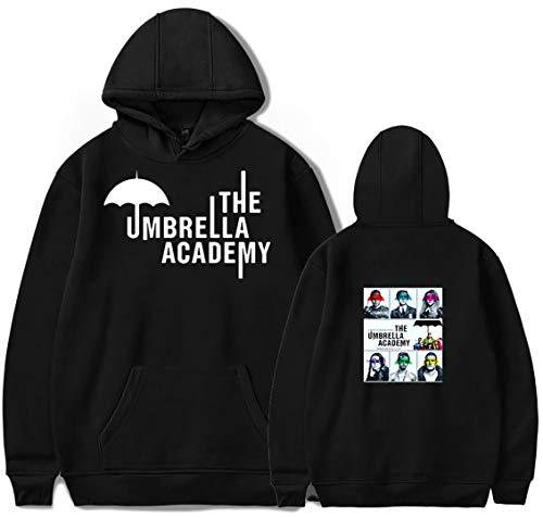 Silver Basic Sudadera con Capucha The Umbrella Academy para Hombre Hot TV Serie Sudadera Informal Hip Hop Warm Ropa S,Negro244-1
