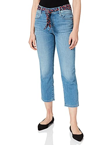 TOM TAILOR Damen 1026063 Alexa Slim Capri Jeans, 10118-Used Light Stone Blue Denim, 36