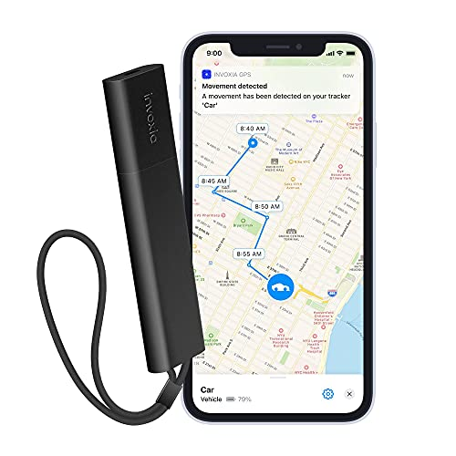 Invoxia Cellular GPS Tracker - Vehicle, Car, Motorcycle, Bike, Senior, Kid, Belongings - Up to 4...